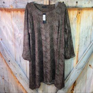 NWT Nally & Millie Leopard Print Knit Dress XL